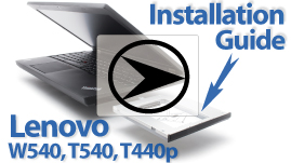 Lenovo W540 T540 T440 HDD SSD Caddy Installation Guide